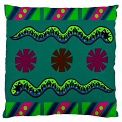 A Colorful Modern Illustration Large Cushion Case (Two Sides)