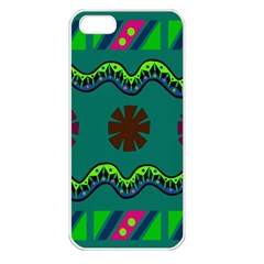 A Colorful Modern Illustration Apple Iphone 5 Seamless Case (white)