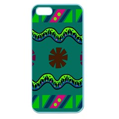 A Colorful Modern Illustration Apple Seamless iPhone 5 Case (Color)