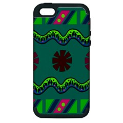 A Colorful Modern Illustration Apple iPhone 5 Hardshell Case (PC+Silicone)
