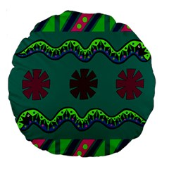 A Colorful Modern Illustration Large 18  Premium Round Cushions