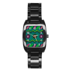 A Colorful Modern Illustration Stainless Steel Barrel Watch