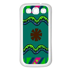 A Colorful Modern Illustration Samsung Galaxy S3 Back Case (White)