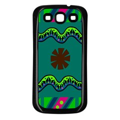 A Colorful Modern Illustration Samsung Galaxy S3 Back Case (Black)