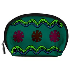 A Colorful Modern Illustration Accessory Pouches (Large)