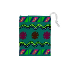 A Colorful Modern Illustration Drawstring Pouches (Small)