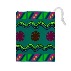 A Colorful Modern Illustration Drawstring Pouches (Large)