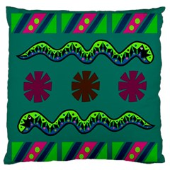 A Colorful Modern Illustration Large Flano Cushion Case (one Side)
