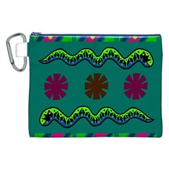 A Colorful Modern Illustration Canvas Cosmetic Bag (XXL)