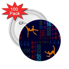 A Colorful Modern Illustration For Lovers 2.25  Buttons (100 pack)