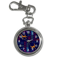 A Colorful Modern Illustration For Lovers Key Chain Watches