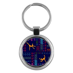A Colorful Modern Illustration For Lovers Key Chains (round)