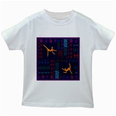 A Colorful Modern Illustration For Lovers Kids White T Shirts