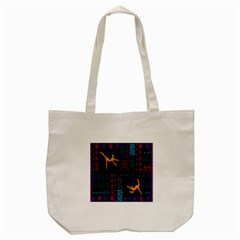 A Colorful Modern Illustration For Lovers Tote Bag (Cream)
