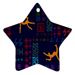 A Colorful Modern Illustration For Lovers Star Ornament (two Sides)