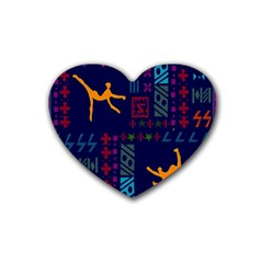 A Colorful Modern Illustration For Lovers Heart Coaster (4 Pack)
