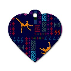 A Colorful Modern Illustration For Lovers Dog Tag Heart (Two Sides)