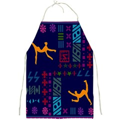 A Colorful Modern Illustration For Lovers Full Print Aprons
