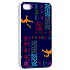 A Colorful Modern Illustration For Lovers Apple iPhone 4/4s Seamless Case (White)