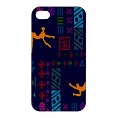 A Colorful Modern Illustration For Lovers Apple Iphone 4/4s Premium Hardshell Case