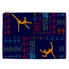 A Colorful Modern Illustration For Lovers Cosmetic Bag (XXL)