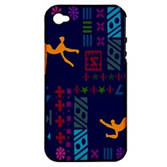 A Colorful Modern Illustration For Lovers Apple iPhone 4/4S Hardshell Case (PC+Silicone)