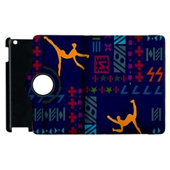 A Colorful Modern Illustration For Lovers Apple iPad 2 Flip 360 Case