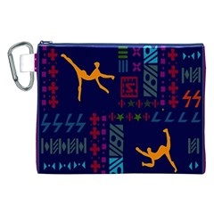 A Colorful Modern Illustration For Lovers Canvas Cosmetic Bag (XXL)