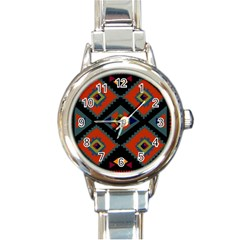 Abstract A Colorful Modern Illustration Round Italian Charm Watch