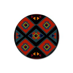 Abstract A Colorful Modern Illustration Rubber Round Coaster (4 pack)