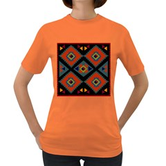 Abstract A Colorful Modern Illustration Women s Dark T Shirt
