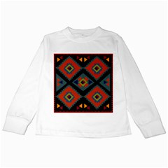Abstract A Colorful Modern Illustration Kids Long Sleeve T-Shirts