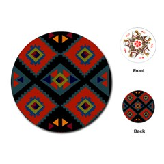 Abstract A Colorful Modern Illustration Playing Cards (round)