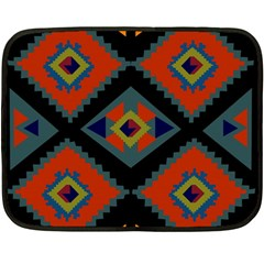 Abstract A Colorful Modern Illustration Double Sided Fleece Blanket (mini)