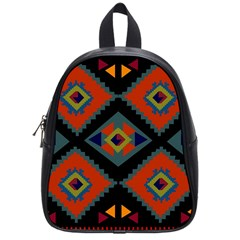 Abstract A Colorful Modern Illustration School Bags (small)