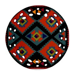 Abstract A Colorful Modern Illustration Round Filigree Ornament (two Sides)