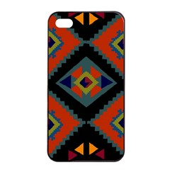 Abstract A Colorful Modern Illustration Apple iPhone 4/4s Seamless Case (Black)