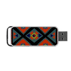Abstract A Colorful Modern Illustration Portable USB Flash (One Side)