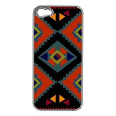 Abstract A Colorful Modern Illustration Apple iPhone 5 Case (Silver)
