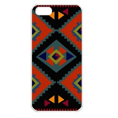Abstract A Colorful Modern Illustration Apple iPhone 5 Seamless Case (White)