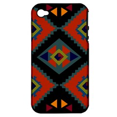 Abstract A Colorful Modern Illustration Apple iPhone 4/4S Hardshell Case (PC+Silicone)