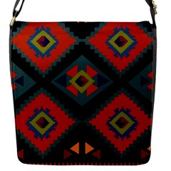 Abstract A Colorful Modern Illustration Flap Messenger Bag (s)