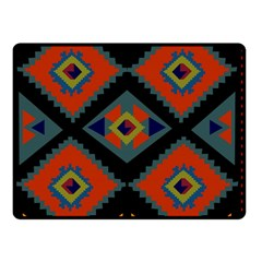 Abstract A Colorful Modern Illustration Double Sided Fleece Blanket (small)