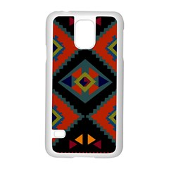 Abstract A Colorful Modern Illustration Samsung Galaxy S5 Case (White)