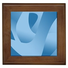 Abstract Blue Background Swirls Framed Tiles