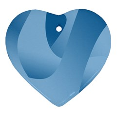 Abstract Blue Background Swirls Ornament (heart)
