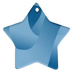Abstract Blue Background Swirls Ornament (star)