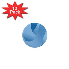 Abstract Blue Background Swirls 1  Mini Magnet (10 Pack)