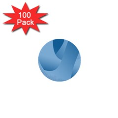 Abstract Blue Background Swirls 1  Mini Buttons (100 pack)
