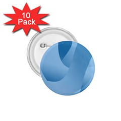 Abstract Blue Background Swirls 1.75  Buttons (10 pack)